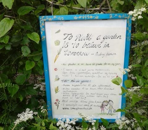 Haven i krattet - skilt