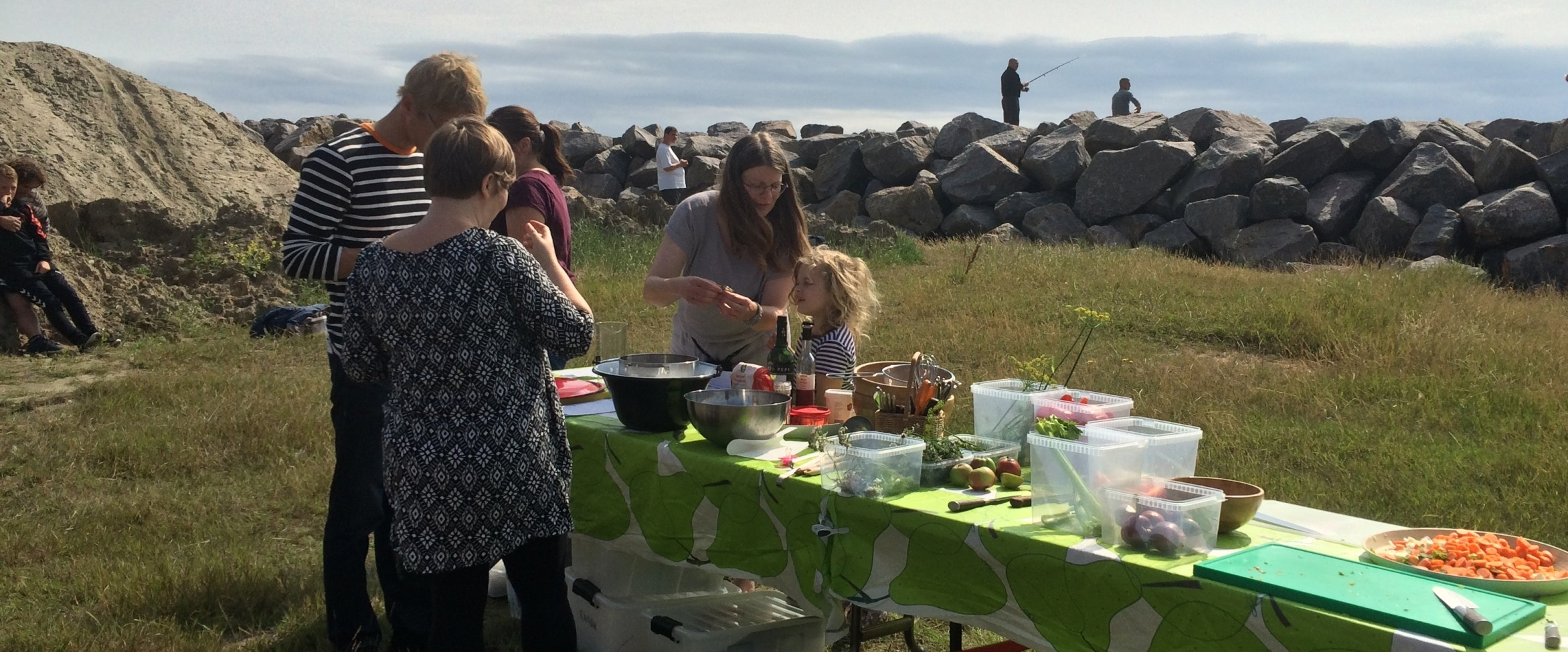 køkken på stranden