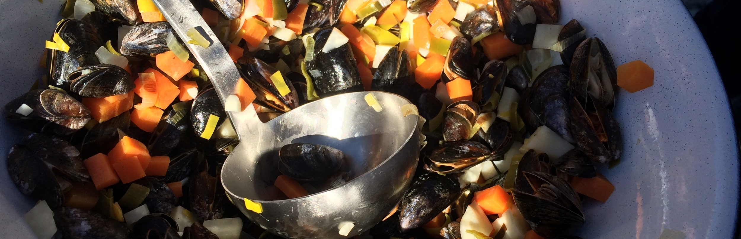 Blåmuslinger - muslingesuppe